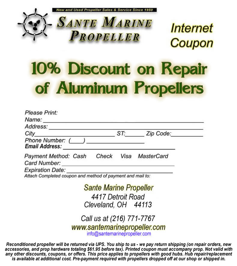 Discount Propeller Repair